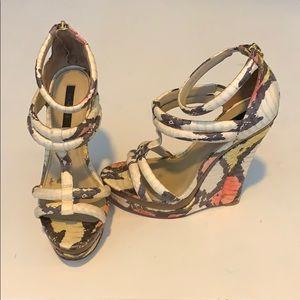 Rachel Zoe Katia Snakeskin Wedge Sandal